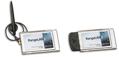 RangeLAN2 7400 PC Cards with dipole and snap-on antennas