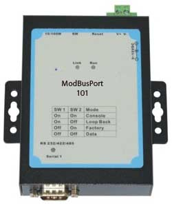 Modbus Ethernet Gateway - Convert Modbus RTU/ASCII slaves, Modbus